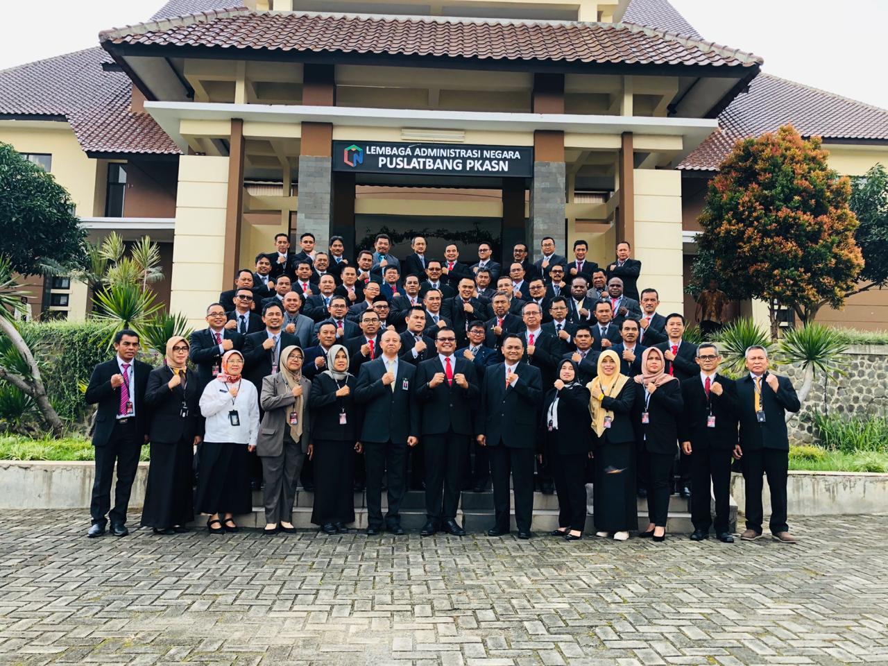 Pelatihan Kepemimpinan Aparatur TK II di PKASN LAN Jatinangor